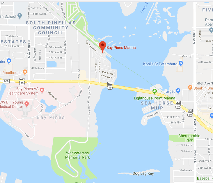Bay Pines Marina Map